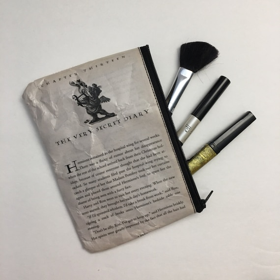 Harry Potter Book Themed Vinyl Pencil or Make-Up Pouch - The Very Secret Diary