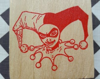 Harley Quinn Wood Mounted Rubber Stamp Scrapbooking & Paper Craft Supplies