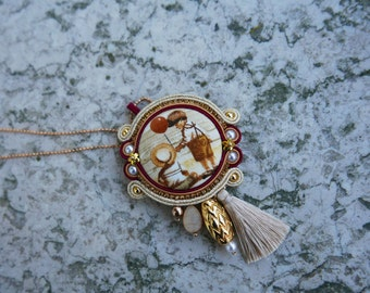 Soutache Necklace handmade product made in italy by KIMA OOAK