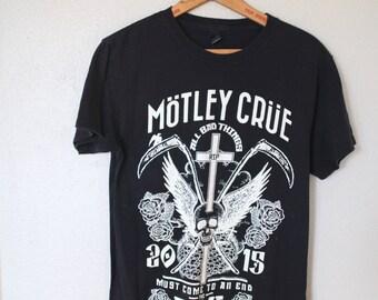 vintage MOTLEY CRUE final tour black t shirt