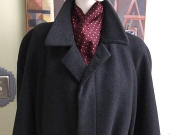 """Vintage Saks Fifth Avenue Cashmere """"Belted"""" Overcoat"""