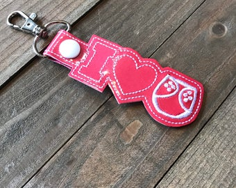 Cloth Diaper Keychain, Cloth Diaper Support Key Fob, Cloth Diaper Key chain, Advocacy Keychain--- You choose from 70 Colors!