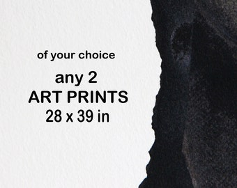 Set of 2 Prints, 70 x 100cm, Extra Large Prints 28 x 39 in, Modern Fine Art Collection in your choice