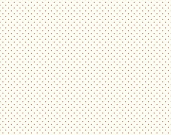 New color... Le Creme Swiss Dots Nutmeg on Cream by Riley Blake Designs - C600 - Nutmeg