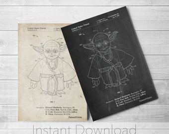 Star Wars Yoda Printables, Star Wars Characters, Starwars Gifts, Star Wars Poster, Star Wars Printable, PP1062