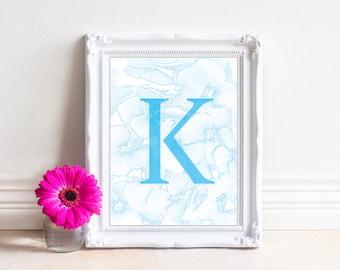 Alphabet Letters Printable, Letter K, Printable Monogram, Monogram Letters,Digital Letters, Digital Initial, INSTANT DOWNLOAD Printable Art