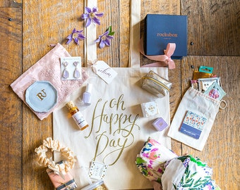 Wedding Bags (10), Oh Happy Day Welcome Bags, Wedding Welcome Bags, Gold Bag, Canvas Tote, Hotel Gift Bag