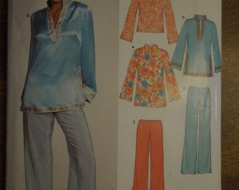 New Look 6544, sizes 10-22, tops and pants, tunics, UNCUT sewing pattern, craft supplies