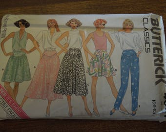 Butterick 4657, sizes 6-10, skirt, culottes, pants, UNCUT sewing pattern, craft supplies