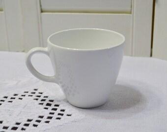 Vintage Corning Centura White Cup Early Corning Ware Mid Century Modern Kitchen PanchosPorch