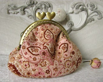 Coin purse clutch with oriental motives