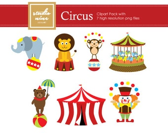 Circus Clipart Set