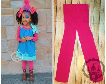 Poppy Troll Leggings, Poppy Troll Pink, Pink Leggings, Pink Footed, Poppy Leggings, Poppy Troll Tutu, Poppy Troll Dress, Poppy Troll