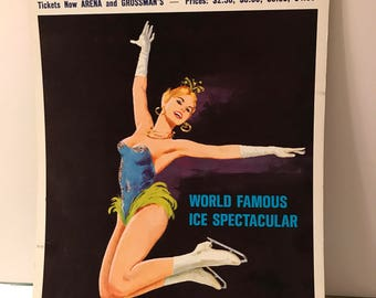 Vintage holiday on ice poster