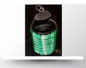 Artist trading card, tin can painting, ACEO card, original acrylic painting, Art ACEO, painting original, limited edition,handmade card