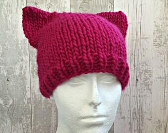 Pink Pussyhat, Pussyhat Project, Pussycat Hat, Pink Pussy Hat, Pussyhat Movement, Pussy Cat Hat, Pink Cat Hat, Cat Ear Hat, Pussyhat Wool