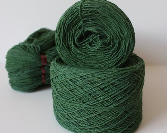 100% Hemp Yarn - Natural Dye - Col: 014 Indigo & Jackfruit - Green