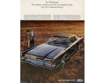 Vintage poster advertisement for 1970 Mercury Marquis - 12