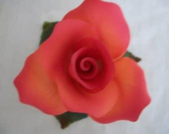 Delicate Rose Made of Porcelain (#0076)