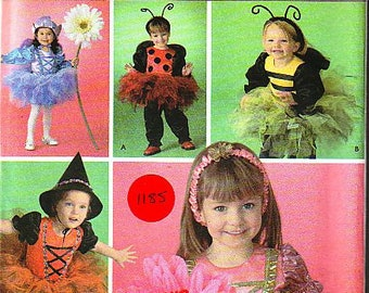 Baby Or Toddler Girl Halloween Costumes - Witch Costume - Fairy Costume - Lady Bug Costume - Girl Costume - Simplicity 4090