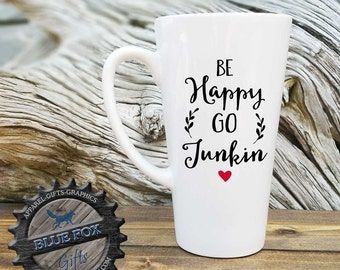 Be happy go Junkin,Antique junker gift,Pickers,Gift for her,Junk Collector Gift,flea market mug,LAT_130
