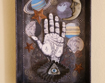 Across The Universe - Found Object Assemblage