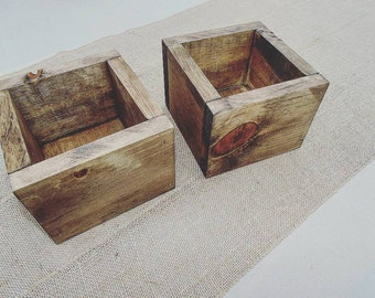 Rustic flower box wedding table centerpiece wedding Decor