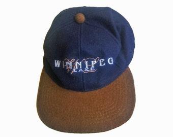Vintage 100% wool hat with earflaps Winnpeg Lake