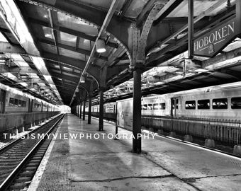 Hoboken train station, original photograph 8x10