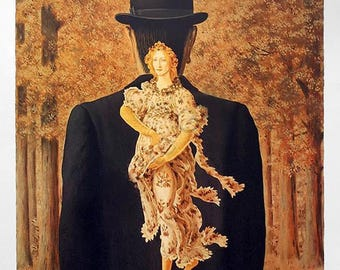 RENE MAGRITTE - limited edition original lithograph - c2004 (Magritte Estate signature and blindstamp. Surrealism)