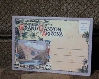 Vintage Grand Canyon National Park Postcard Book