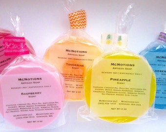 Glycerin Soap, Detergent free, Fun Fragrances, Scented Soap, Choose favorite scent and color, Personalized Soap, Made to Order