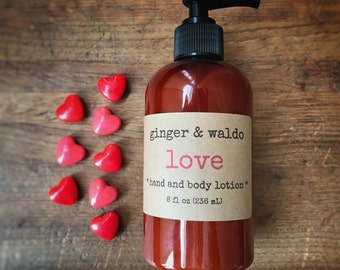 Love Hand and Body Lotion - Love - Hand and Body Lotion - Love Lotion - Hand Lotion - Body Lotion - Vegan Lotion - Karma Collection