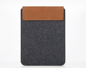 iPad Leather Felt Case - iPad Cover - iPad Air Case - iPad Air Sleeve