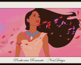 Pocahontas Romantic, cross stitch disney, cross stitch princess, Pocahontas, disney, cross stitch pattern, PDF pattern, instant download!