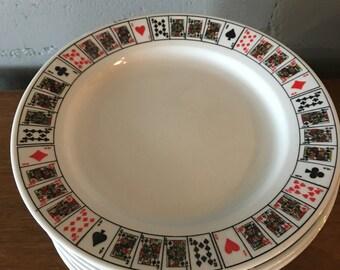 Vintage Jobar International Poker Plates, Set of 12