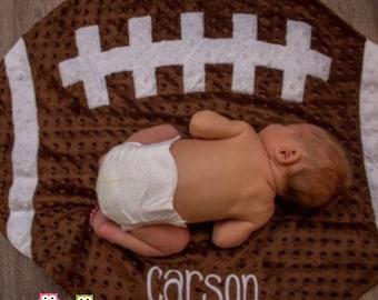 Mud Pie Minky Football Baby Blanket