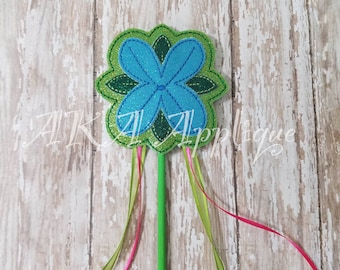 ITH Happy Queen Flower Princess Wand Embroidery Design
