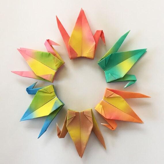 1000 3 gradient origami paper cranes senbazuru for 1000 paper cranes wedding decoration