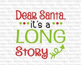 Christmas Cut File - Santa Cut File - Christmas svg - Santa svg - cut file - holiday cut file - holiday svg