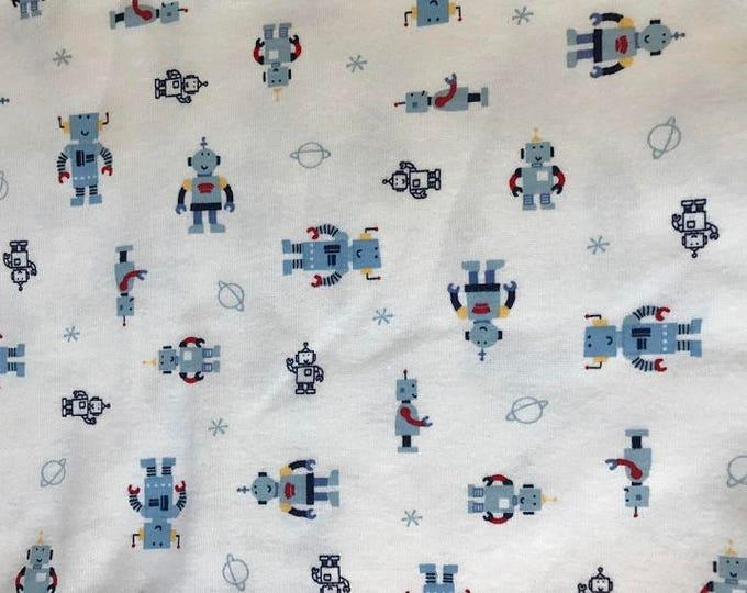 Robots Soft Cotton Knit Fabric