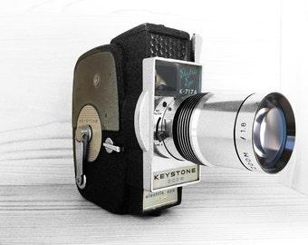 Vintage Keystone Electric Eye Movie Camera - K717 A Keystone Electronic Eye / Mid Century Cinema