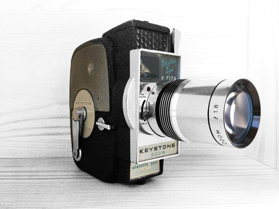 Vintage Keystone Electric Eye Movie Camera - K717 A Keystone Electronic Eye / Mid Century Cinema
