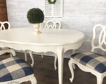AVAILABLE: White Painted Dining Table