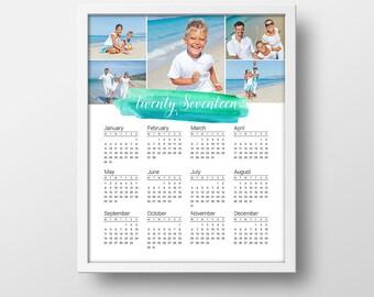 Yearly Custom 2017 Calendar - Family Photo Calendar - Custom Wall Calendar - Unique Photo Gift - 2017 Calendar - Custom Wall Calendar