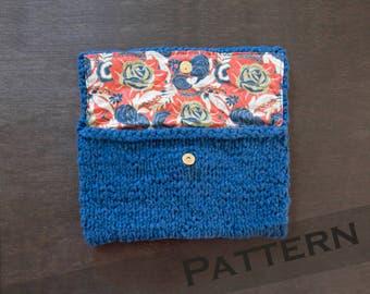 Handbag Pattern / Clutch Purse Pattern / Easy Knitting Pattern / Modern Minimalist Bag Pattern / Gifts for knitters