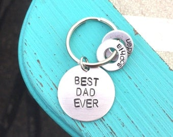 """Keychain for Dad - """"BEST DAD EVER"""""""