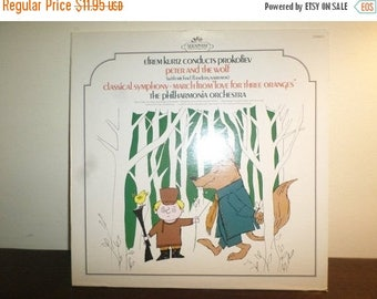 Save 30% Today Vintage 1959 Classical LP Record Love for Three Oranges Peter and the Wolf Near Mint Condition 7949
