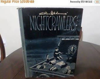 Save 25% Now Vintage 1957 Hardcover Book Nightcrawlers Charles Addams First Edition Original Dust Jacket Excellent Condition