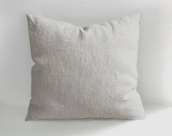 Handmade Linen Pillow Cover -Decorative Pillow - Throw Pillows - Natural Linen - Cushion Covers - Linen Cushion - Linen Pillows Linen Pillow